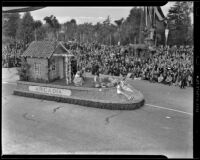 Arcadia parade float at the Tournament of Roses Parade, Pasadena, 1939