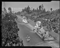 North Hollywood float at the Tournament of Roses Parade, Pasadena, 1939