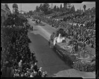 City of Los Angeles float at the Tournament of Roses Parade, Pasadena, 1939