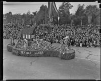United Service Clubs float at the Tournament of Roses Parade, Pasadena, 1939