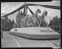Burbank float at Tournament of Roses, Pasadena, 1939