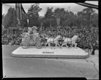 Burbank wins Sweepstakes Prize at Tournament of Roses Parade, Pasadena, 1939