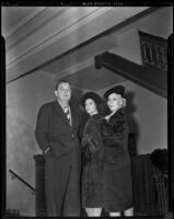 Witness Dorothy Dunbar (Dorothy Wells Lawson) with Mr. and Mrs. Lou Smith, Los Angeles, 1939