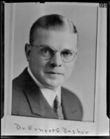 Dr. Ernest George Bashor is nominated to the board of health, Los Angeles, 1939