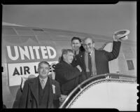 Union advocate Thomas J. Mooney arrives in Los Angeles, 1939