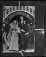 Wedding of John A. Roosevelt and Anne Clark Roosevelt, Nahant, 1938