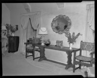 Some furniture in the home of Ray Noble, Beverly Hills, 1939