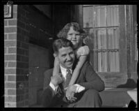 June Robles puts her arms around her father Fernando, Glendale, 1934