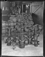 Gas regulator equipment created by the Wilgus Manufacturing Company, Los Angeles, circa 1931