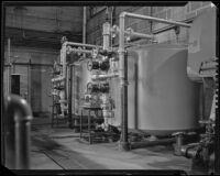 Tanks at the Arrowhead-Puritas bottling plant, Los Angeles, 1929-1939