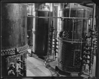 Tanks at the Arrowhead-Puritas bottling plant, Los Angeles, 1929-1939
