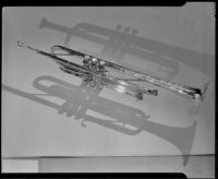 F. E. Olds Military trumpet with a hammered finished bell, Los Angeles, 1933-1939