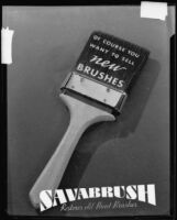 "Paint brush in an advertisement for ""Savabrush,"" 1925-1939"