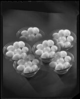 Photomontage composition with eggs in glass bowls, 1925-1939