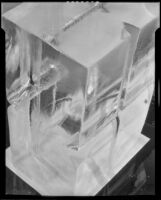 Two blocks of ice for an icebox, 1930-1937