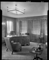 Office at the Pierce Brothers Mortuary, Los Angeles, 1925-1939