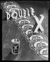 "Advertisement photograph for ""Double X Floor Cleaner,"" circa 1934"