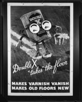 "Advertisement for ""Double X Floor Cleaner,"" circa 1934"