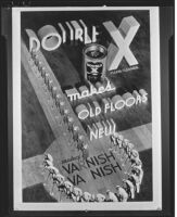 "Photomontage advertisement for ""Double X Floor Cleaner,"" circa 1934"