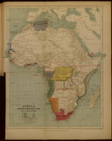 Africa. European possessions in 1885, after the Berlin Conference