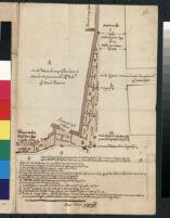 Roma. Pianta che dimostra come sono situate le botteghe di legno che sono attorno al palazzo di Campo de' Fiori.