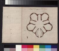 """Monte Virginio. Disegno del """"cremitorio"""" [d'Eremitorio], delineata a colori."""