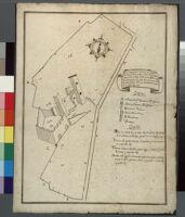 Solofra. Pianta [di due pezzi di] terreno [accanto al] castello situato sopra la collina.