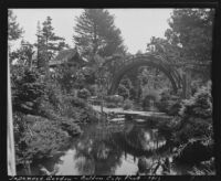 Drum bridge at the Japanese Village, Golden Gate Park, San Francisco, 1913