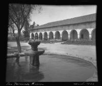 Fountain at the Mission San Fernando, Rey de España, Los Angeles, 1922
