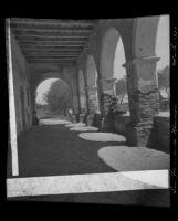 Convento at the San Fernando, Rey de España Mission, Los Angeles, 1922