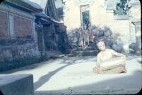 Mandera playing kendang; Peliatan, Bali 1957