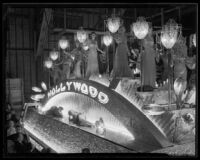 """Spirit of Hollywood"" float at the Electrical Parade in the Memorial Coliseum, Los Angeles, 193"