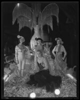 """""""Fete Day in Spain"""" float at the Electrical Parade in the Memorial Coliseum, Los Angeles, 1932"""