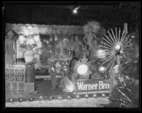 Warner Brothers float at the electrical Parade in the Memorial Coliseum, Los Angeles, 1932