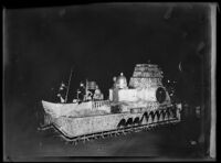 """Bicentennial Monument"" float at the Electrical Parade in the Memorial Coliseum, Los Angeles, 1932"