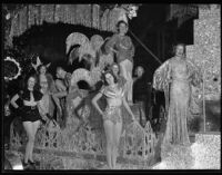 """""""Fountain of Beauty"""" float at the Electrical Parade in the Memorial Coliseum, Los Angeles, 1932"""